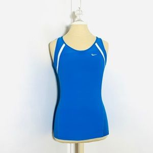 Nike Athletic Women's Tank Top Blue Size S GUC